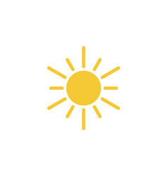 sun icon - simple element vector image