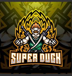 Super duck esport mascot logo design vector