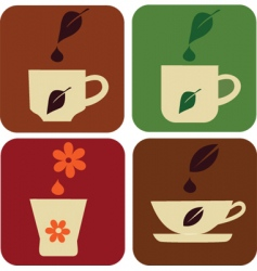 tea drinking vector image