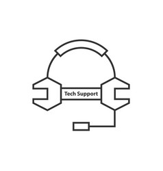 Thin line tech support logo vector