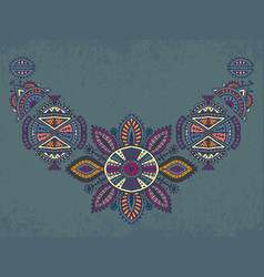tribal art boho hand drawn geometric pattern vector image