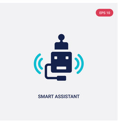 Two color smart assistant icon from general vector