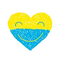 Ukraine heart vector image