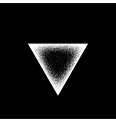 White Abstract Triangle Badge vector image