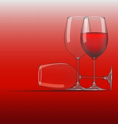 Wine Glass 3 vector image