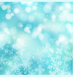 winter white christmas bokeh blue and sparkling vector image