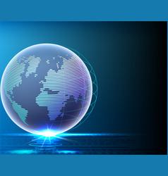 wireframe global world bigdata information line vector image