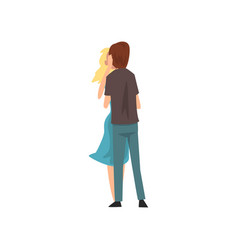 young man and beautiful woman embracing and vector image
