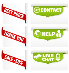 banner tag signs vector image vector image