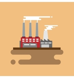 Concept of industrial factory buildings flat vector image