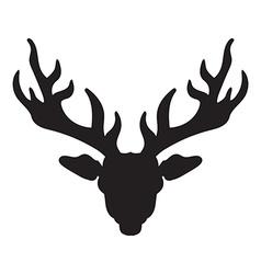 Deer head with horns vector image
