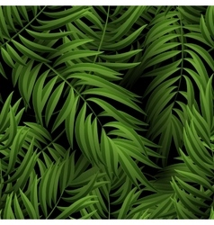 Seamless tropical jungle floral pattern with palm vector image vector image