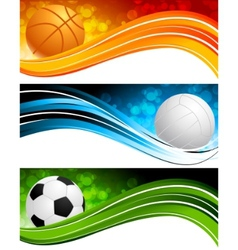 sports banners vector image vector image