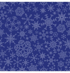 various types of outline white snowflakes seamless vector image