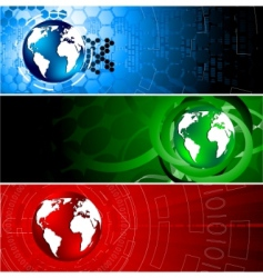 vector tech colorful banners vector image vector image