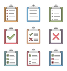 Check List Icons vector image vector image