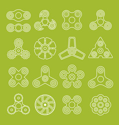 different outline spinners vector image
