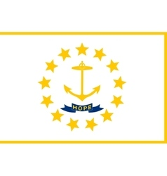Flag of Rhode Island correct size colors vector image vector image