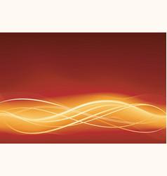 glowing wave vector image vector image
