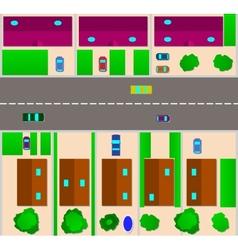 Map of Cottage Village Flat vector image