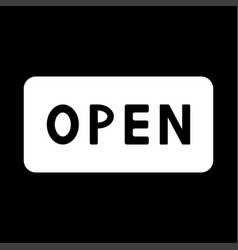 sign open it is icon vector image vector image