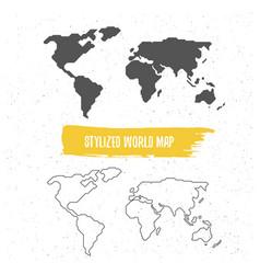 stylized world map vector image