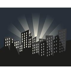 City of Sunrise vector image