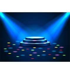 Empty stage with spotlights on stage vector image vector image