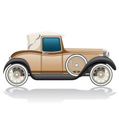 old retro car vector image