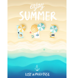 tropical beach poster vector image