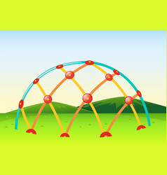 climbing dome in playground vector image vector image