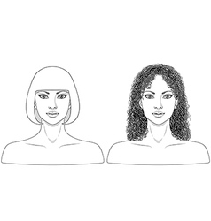 girl black white vector image vector image