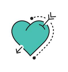 Heart and arrow blue vector