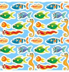 various sea animals vector image vector image
