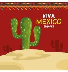 viva mexico cactus symbol design vector image vector image