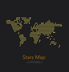 world map with stars for business templates vector image