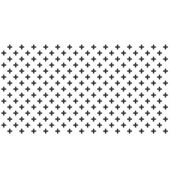 abstract black crosses minimal geometric pattern vector image