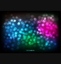 Abstract color bokeh blur light background vector