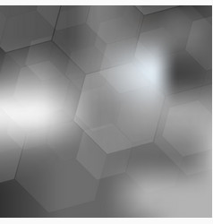 abstract digital hexagon on gray background vector image
