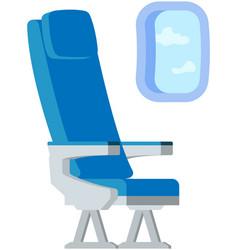 Airplane passenger place near window comfortable vector