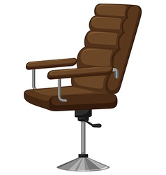 Arm chair with brown leather vector