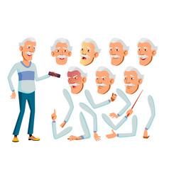asian old man senior person aged elderly vector image