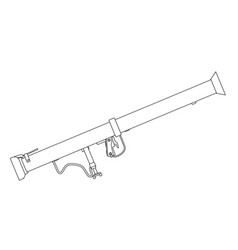 Bazooka antitank weapon vector
