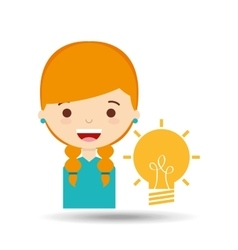 beatiful girl blonde student idea vector image