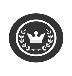 Best award label Laurel wreath and crown success vector image