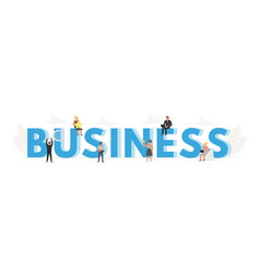 big word business banner for design concept vector image