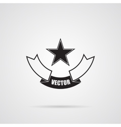 Black gray Star emblem vector image