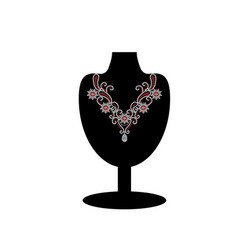 black mannequin with jewelry vector image