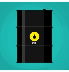 black metal oil barrel with logo icon vector image