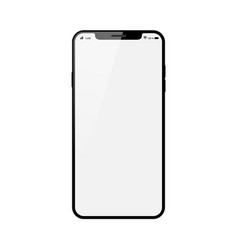 black smartphone with blank touch screen isolated vector image